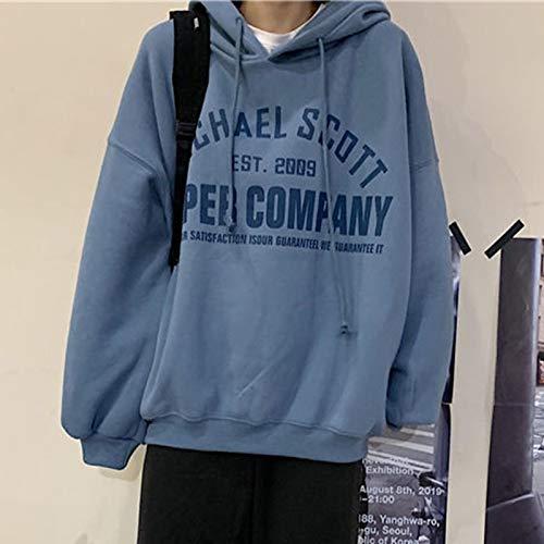 Sudaderas Hoodie Sudaderas con Capucha para Mujer Jerseys6 Colores Letras Impresas Otoño Invierno Niñas Abrigo Coreano Suelto