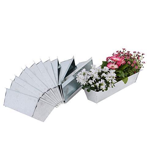 Nature by Kolibri Blumenkasten Set Balkonkasten Einsatz passend für Europaletten für Blumen, Kräuter und Früchte 12 Stück 38cm