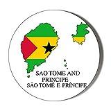 SAO Tome & Principe Flagge in Karte – SAO Tome & Prince Flagge, 58 mm, magnetischer Flaschenöffner