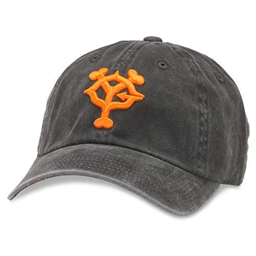 AMERICAN NEEDLE New Raglin Nippon Yomiuri Giants Baseball Dad Hat (36670A-YOG-BLK) Black