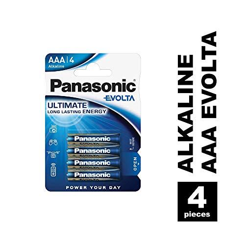 Panasonic Evolta Alkali-Batterie, AAA Micro, 4er Pack, für energieintensive Produkte, Alkaline