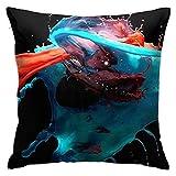 smartgood Paint Splash Red Blue Mixing Soft Square Funda de Almohada Funda de cojín Sofá para el hogar Decorativo 45X45cm Ultra cómodo