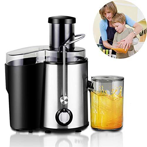 NLYWB Roestvrijstalen sapcentrifuge, BPA-vrije sapcentrifuge met dubbele snelheidsinstelling en druppelbeschermingsfunctie voor groenten en fruit