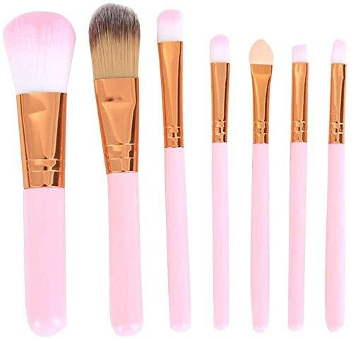 WLYX Pinceau de maquillage Maquillage Mini visage Portable Brosses multi fonction premium Fondation Blending Fards Professional Cosmetics Brosses Kit rose poignée 1