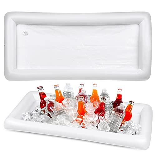 Bramble 2 Stück Aufblasbare Eiswürfelschale Bar für Poolpartys - 130 x 65 x 13 cm