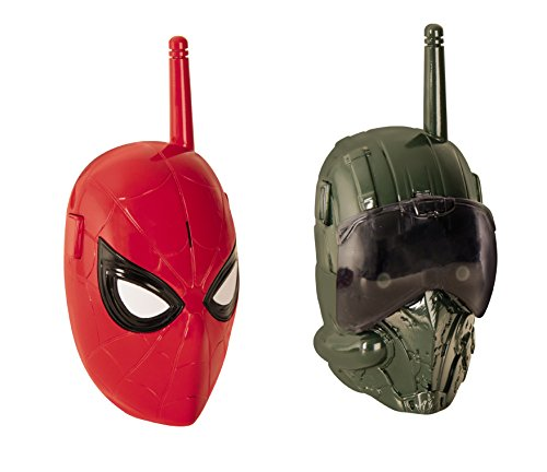 Marvel- Walkie Talkie Cara Spiderman y Villano, Multicolor (IMC Toys 551312)