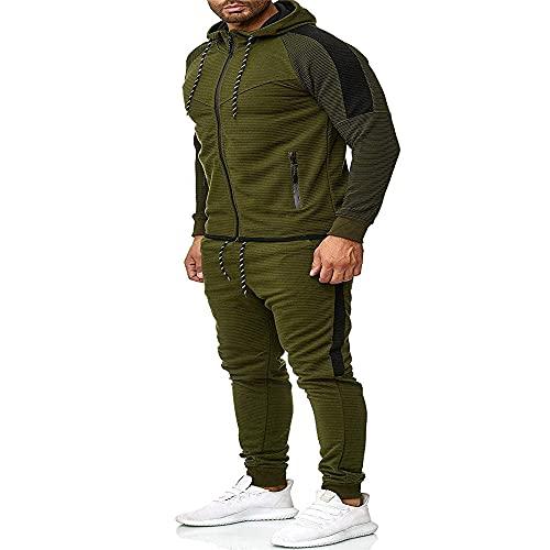 ZZOU Men's Tracksuit Set Gym Jogging Bottoms Trouser Tops Full Zip Jacket Long Sleeve Hoodie Jogging Sports Suits Sports Fitness Suit Running Sets Yoga Suit Sportswear Gym Wear Casual Wear Hoodies
