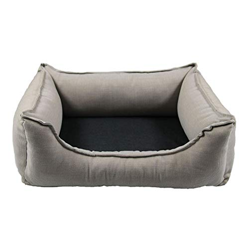Wolters Dog Lounge Noble Stripes beige/granit 105 x 80 cm