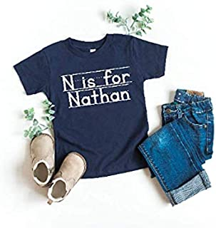 Boy's Back to School Shirt Name T-shirt First Day of School Outfit