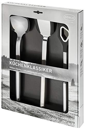 RÖSLE Küchenklassiker Kochlöffel-Set, Silikon, Uni