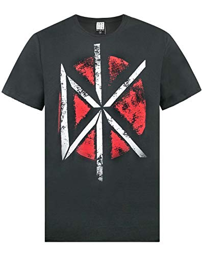 Amplified Dead Kennedys Distressed Logo Mens Charcoal Short Sleeved T-Shirt