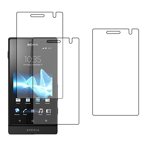 ebestStar - Pack x3 Protector Pantalla Compatible con Sony Xperia U, Sony...