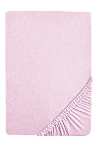 Biberna 77144/555/046, Sábana bajera ajustable elástica, Rosa (lila), 90 x 190 cm - 100 x 200 cm