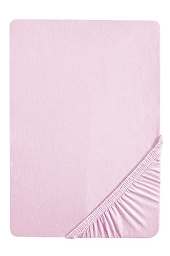 Preisvergleich Produktbild biberna 0077144 Feinjersey Spannbetttuch (Matratzenhöhe max. 22 cm) (Baumwolle) 140x200 cm -> 160x200 cm,  flieder