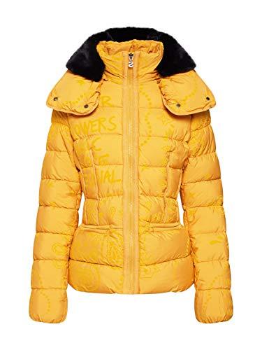 Desigual Cazadora Padded Sunna Amarilla de Mujer. 42 Amarillo