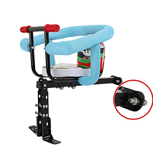 Sale!! ELSP Child Front Bicycle Seat Removable Pedal, Handle and Fully Surrounded Guardrail, Mountai...
