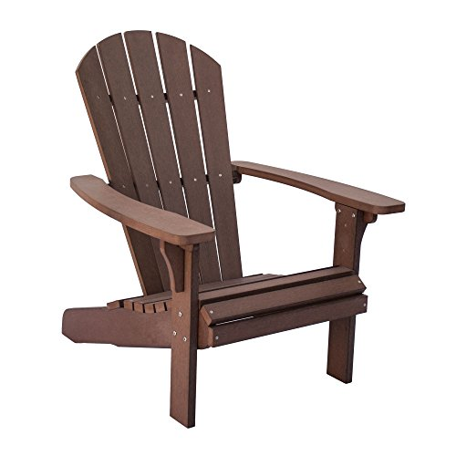 Shine Company 7618CB Royal Palm Adirondack Chair, Chateau Brown