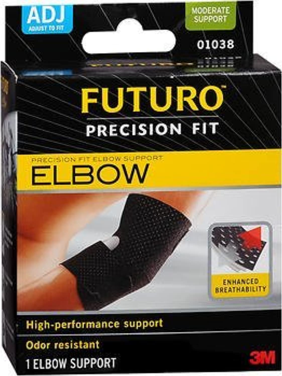Futuro Precision Fit Elbow Support Adjust to Fit  Each, Pack of 4