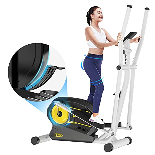 Afully Elliptica Machine Eliptical Trainer with 8 Levels Magnetic Resistance,Tablet Holder, LCD Monitor, Pulse Sensors, Smooth and Quiet for Home Use (E208-10)