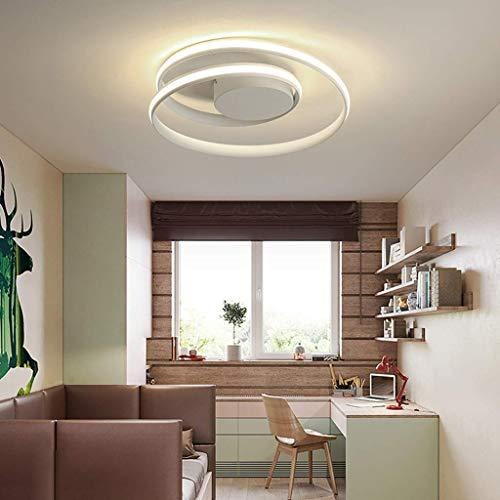 Moderna lampada da soffitto a spirale a LED design semplice ghirlanda in metallo acrilico ristorante soggiorno camera da letto patio lampadario lampada da soffitto 46 x 12 cm 50 W,Bianca,Whitelight
