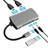 HDMI キャプチャーボード USB Type C 4K 1080P ビデオキャプチャー HD ビデオ オーディオキャプチャー HDMI ゲーム 実況配信 画面録画 ライブ 会議 適用Windows/Linux/Mac OS X、PS4/Xbox One/Nintendo Switch/Wii U対応
