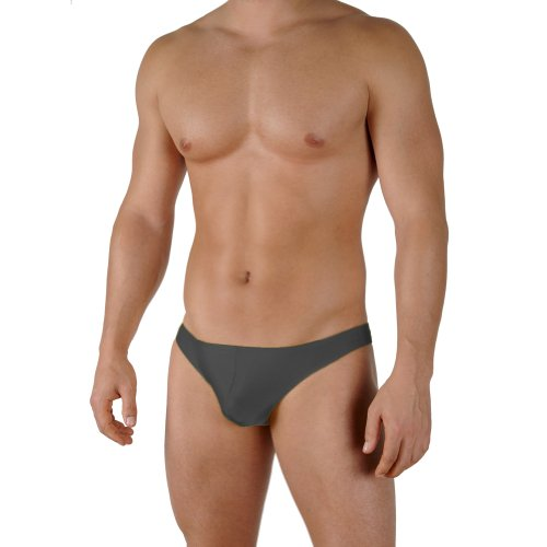 Gary Majdell Sport Mens New Solid Charcoal 2 Thong Swimsuit Large