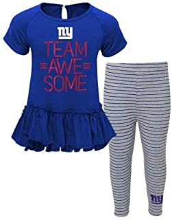 Outerstuff New York Giants Girls Youth Awesome Dress and Leggings Blue, Large - 6X