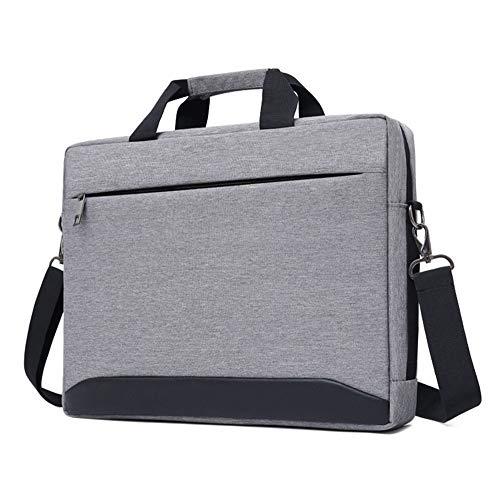 13.3 14 Inch Travel Laptop Messenger Shoulder Bag Business Briefcase w/Luggage Strap Handle for HP EliteBook, ProBook 14' / Dell Latitude 7480, 7490, 14', 7390 13.3' / Surface Book 2 13.5 (light gray)