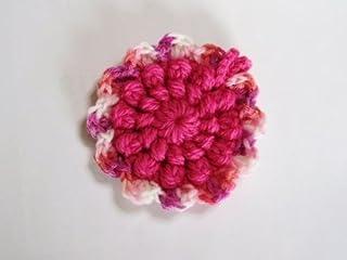アクリル・エコたわし* 洗剤なしでピッカピカ~!(かわいいピンク色です~ちょっぴり小さめ新シリーズ) 抗菌・防臭(全体)・マーブル部(銀イオン配合)