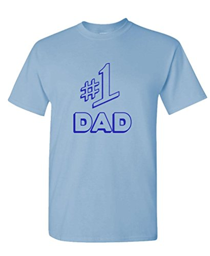 Number 1 DAD - Funny Seinfeld Fathers Day - Mens Cotton T-Shirt, XL, Lt Blue