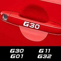 JIERS BMW G30 G20 G11 G01 G02 G05 G06 G07 G08 G12 G14 G15 G16 G21 G31 G32 G38の車のスタイリングドアハンドルステッカー車のステッカー