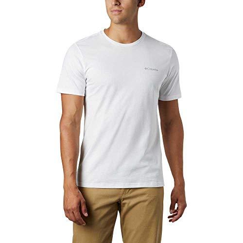 Columbia M Rapid Ridge Back Graphic T-Shirt pour Homme S Blanc