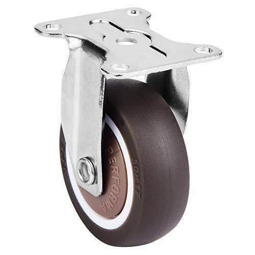 Ruedas fijas de goma giratorias con freno y soporte reforzado Ruedas de gran capacidad de carga para carro móvil