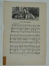 d/ vintage nursery rhyme engraving & music I LOVE LITTLE PUSSY