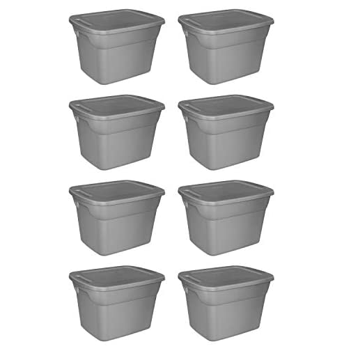 STERILITE, 18 Gal./68 L Tote Box, Case of 8 2