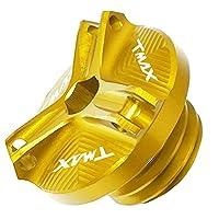 Y /アマハに適合TMAX500 / 530 T-max 500 2001 2002 2003 2004-2008 M20 * 25モーターサイクルエンジンCNCモトカップオイル燃料フィラーキャップタンクカバー-ゴールド