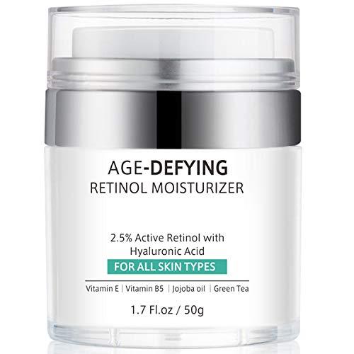 Retinol Cream for Face, Anti-Aging Face Moisturizer Cream with Retinol, Jojoba Oil, Hyaluronic Acid, Wrinkle Cream for Neck Décolleté Dark Spot Remover, Best Day and Night Cream Women Men, 1.7 Ounces