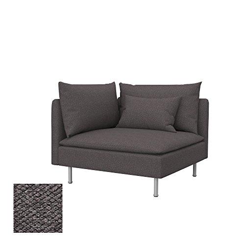 Soferia - IKEA SÖDERHAMN Funda para módulo de Esquina, Nordic Dark Brown