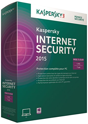 Kaspersky internet security 2015 - Renouvellement (1 poste, 1 an)