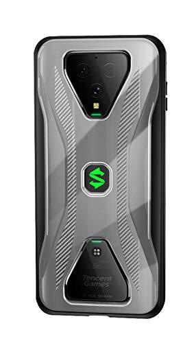 NOKOER Hülle für Xiaomi Black Shark 3 Pro, Durchsichtig PC + Weich Silikon TPU Zusammengebaut Hülle, with Flexibel Stoßfestt, Superdünn rutschfest Handyhülle für Xiaomi Black Shark 3 Pro (Schwarz)