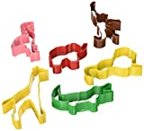 R&M International Safari Animal Cookie Cutters, Lion, Elephant, Monkey, Alligator, Flamingo, Giraffe, 6-Piece Set