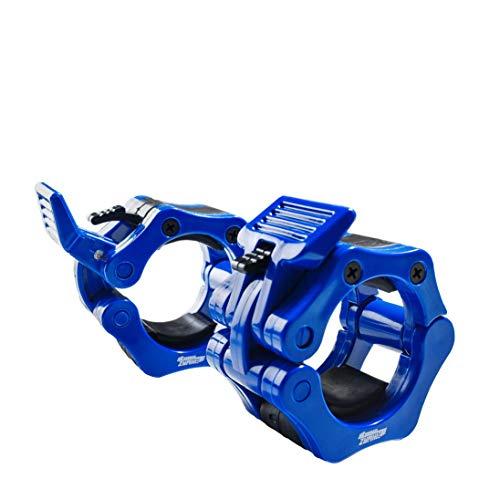 Eihwaz-fitness – Hantelverschlüsse Hantelstangen Verschluss für 50mm Langhantelstange Olympic Bar Hantelklemme Halsbänder Sicherer Schnappverschluss Schnellverschluss Federverschlüsse (Blau, 50mm)