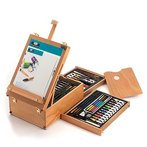 Royal & Langnickel- Set de Artista Caballete para Todos los usos, 104 Piezas, Multicolor (Royal Brush REA6000)
