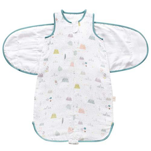 KESYOO Envoltura de Manta de Bebé Envoltura Saco de Bebé Ajustable Saco de Dormir Recién Nacido Manta de Ducha para Cochecito de Cuna Verde