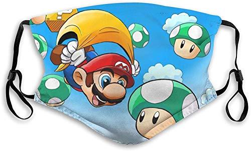 SYEA - Bufanda antipolvo con filtro Super Mario para la cara al aire libre para niños y adultos