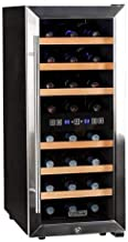 Koldfront TWR247ESS 24 Bottle Free Standing Dual Zone Wine Cooler – Black and Stainless Steel