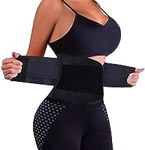 VENUZOR Waist Trainer Belt for Women - Waist Cincher Trimmer - Slimming Body Shaper Belt - Sport Girdle Belt (UP Graded)(Black,Medium)