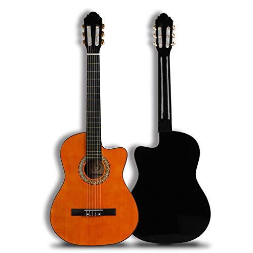 Secret night 39 Pulgadas Guitarra Clásica Naranja Guitarra Acústica Cutaway Guitarra Clásica 100 * 37,4 * 9,6 Spruce