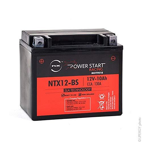 NXBaterías jet skiPlomo sellado AGM preactivado12V10AhCompatible con: ETX12-BS ; ETX12BS ; GTX12-BS ; GTX12BS ; YTX12 BS ; YTX12-BS ; MOT076 ; YB12B-B2 ; YB12BB2 ; MOT114 ; NTX12-BS ; NTX12BS ; VARTA