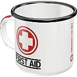 Nostalgic-Art - Taza de café esmaltada retro First Aid – Classic – Idea de regalo para los amantes de la nostálgica,...